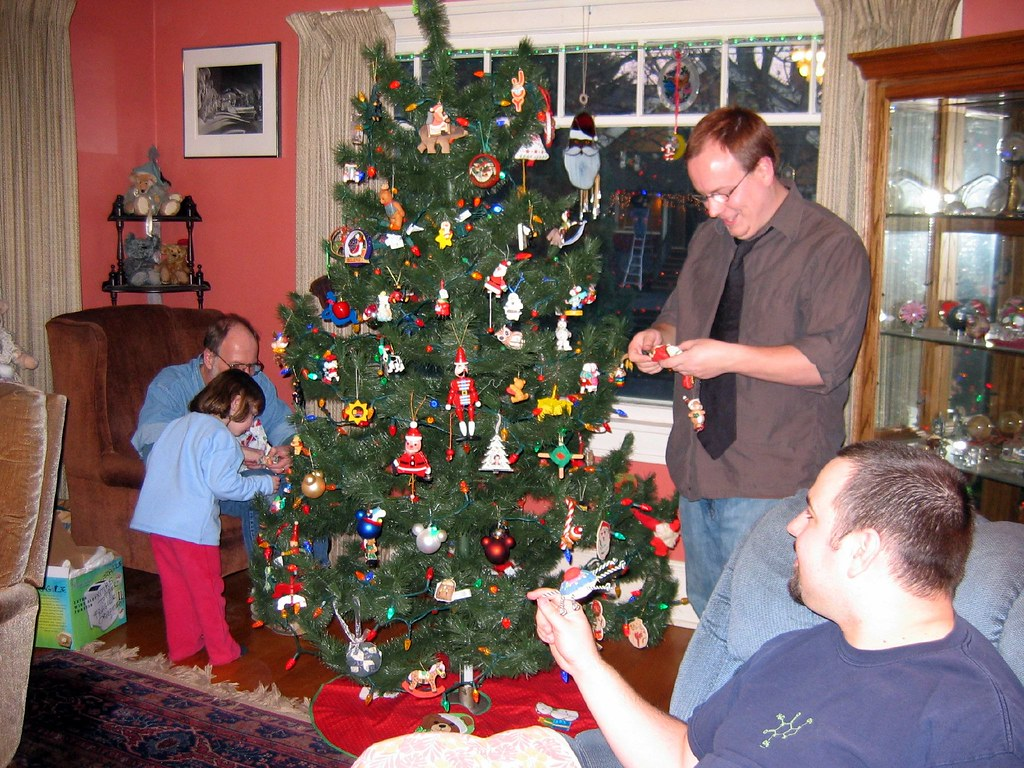 Decorating the Tree with the Family