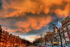 Sunset over Singelgracht - by MorBCN