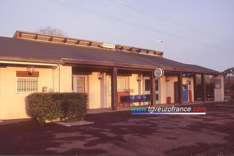 La gare SNCF d'Ychoux dans le département des Landes en Région Aquitaine