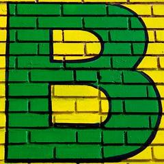 The Green B (See El Photo) Tags: b 15fav green yellow big bricks letter 1f faved yellowbricks bigletter letterb yellowaandgreen