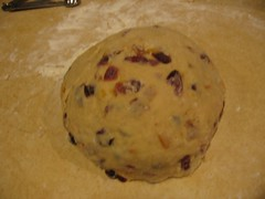 kneaded dough with fruits.JPG (janespeed27) Tags: christmas bread marzipan stollen