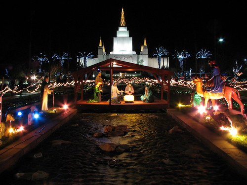 Nativity at Oakland Temple