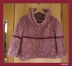 melange mohair sweater
