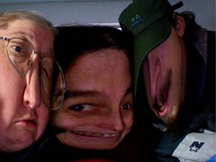 The happy family, 2006: Mel, Rozz, Jesse (playing w/ Photobooth)