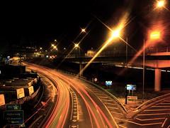 Northbound (edwardkb) Tags: longexposure light london luz bulb night m1 nacht sony cybershot a406 slowshutter nuit brentcross dsct7 northcircularroad ruvjet edwardbarnieh