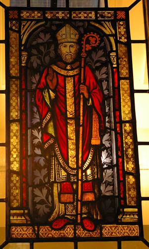 Den hellige Cedd i kirken St Mary Magdalene i North Ockendon i Essex