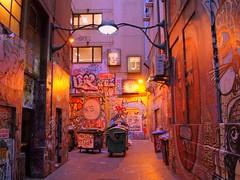 Alley Art (benrobertsabq) Tags: urban streetart art graffiti alley downtown nightout tag australia melbourne olympus victoria cbd lightbox e500 kitlenses ornatelightfixture