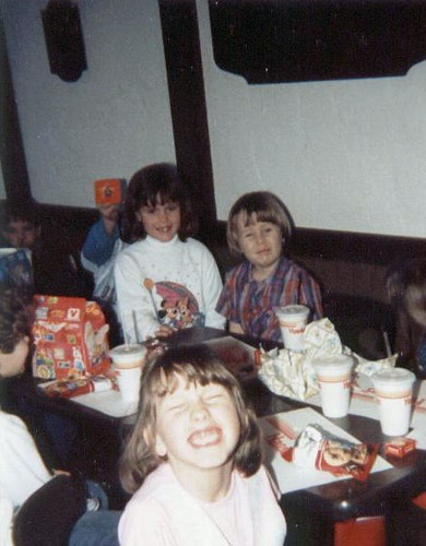 Birthday party at Hardees, 1986.