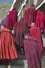 Prayer time 2 (three-B) Tags: china asia buddhist monk buddhism tibet monastery lhasa centralhall derpungmonastery