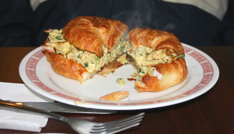 Indian Egg Croissant