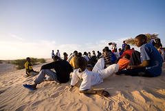 School In The Dunes of Sahara (Swiatoslaw Wojtkowiak) Tags: africa travel school college sahara students sand education desert dune class study exotic journey westafrica remote lesson mali timbuktu pupils distant  timbuctu  tomboctou  timbuctou timbuktoo