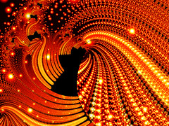 1st experiment with fractals (Barabeke) Tags: xmas orange spiral lights warm best yogi fractal fractals merry futuristic jpeggy
