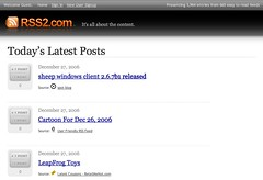 RSS2.com new design is live!  - Home page