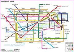 Metrokaart met trends
