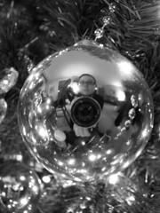 Christmas ball self-portrait