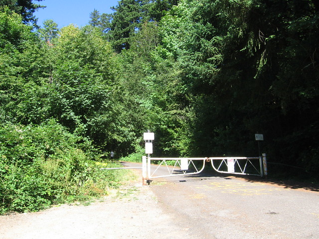 Entrance gate, Kelly Butte