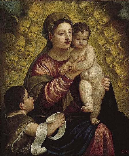 Titian, Virgin and Child with St. John, 1500s