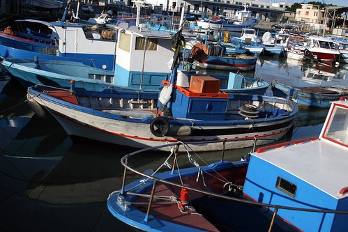 Fishing boats in Palermo's harbor