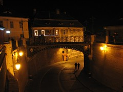 Sibiu Bridge (Stranju) Tags: foto romania notte nigth notturne sibiu nigthshots canonpowershots3is stranju withcanonican sfidephotoamatori