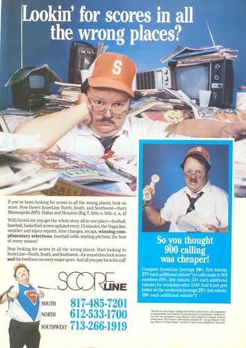 Vintage Ad #122 - Scoreline Man!