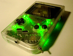 Clear transparent green DMG Gameboy