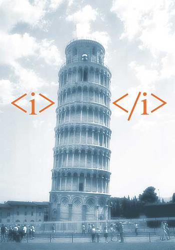 html tag italicized