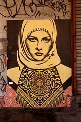Shepard Fairey, Meatpacking District, New York City (Northcountry Boy) Tags: street new york city sun art d50 nikon grafitti district misc january sean fairey ng scenes shepard 2007 meatpacking aik northcountryboy seanng