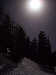 Moon over Mount Rose