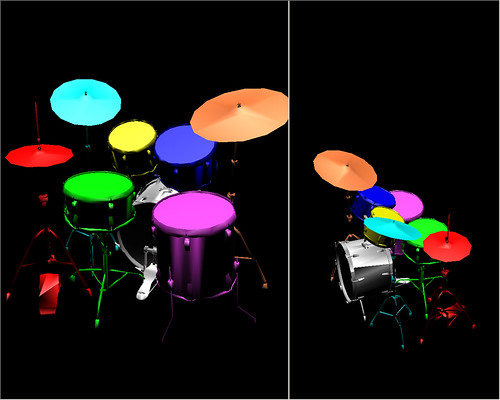 Virtual drums player - laval virtual 2006 - batterie virtuelle