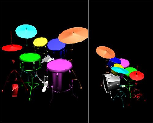Virtual drums player - laval virtual 2006 - batterie virtuelle
