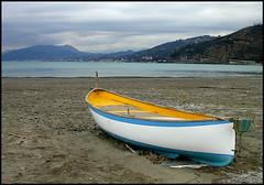dopo il temporale2 (marco e anna) Tags: sea italy italia mare liguria barche cielo sabbia temporale maredinverno