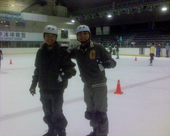 and Ansel () Tags: ice jerry skate ansel