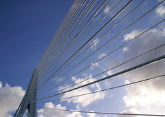 Erasmus Bridge (Great!) Tags: city holland netherlands rotterdam sony great stad erasmusbrug a100 erasmusbridge stadsendorpsgezichten