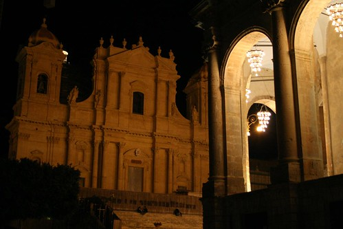 The facade of Noto's Cattedrale