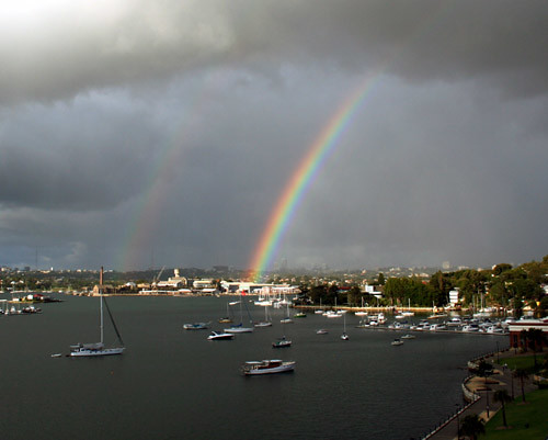 Rainbow on the bay