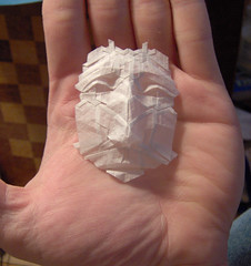 little face (origami joel) Tags: face paper origami mask little folding