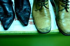 shoedate (goldene palme) Tags: old leather shoes couple alt cologne köln schuhe leder reperatur