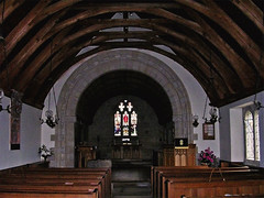 Interior View of Linton Kirk (musicmuse_ca) Tags: 15fav church scotland dragon medieval norman somerville knight celtic ancestors kirk linton royalfalconer scottishborders memorieofthesomervilles