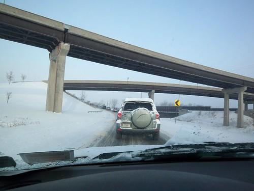 Winter's Drive: The 490, 590 Interchange in Rochester