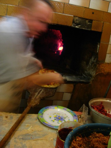 Making pizza in Boyabat, Turkey
