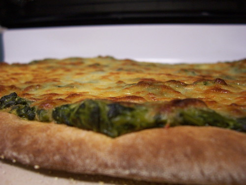 Spinach pizza IV