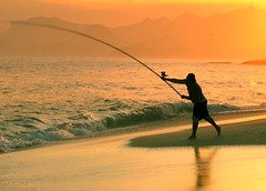Hey fisherman.... Wish you luck...Forget the World if that's your plan... (neloqua) Tags: ocean light sunset sea summer brazil sunlight beach southamerica water beautiful riodejaneiro wonderful fun happy daylight fantastic fishing fisherman sand perfect summertime moment lovely charming magical shining niteroi sunnyday