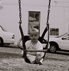 Make it go, Dad (Leon Jacobs) Tags: swing amelia analogue black38white