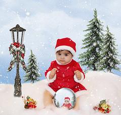 q (mylaphotography) Tags: christmas snow art digitalart fantasy rahi childphotography jaber mylaphotography michiganstudiophotography fairytalephotography