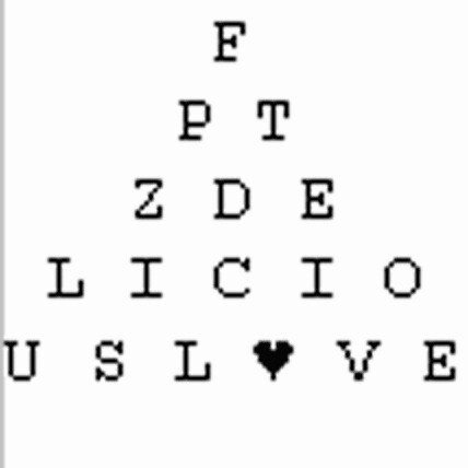 Snellen chart for toddlers