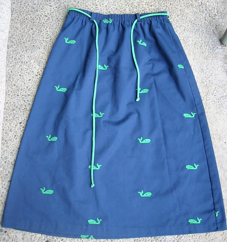 whale skirt before--thrift-store find