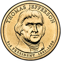 jefferson one dollar coin