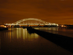 Runcorn Bridge at night (Mr Grimesdale) Tags: bridge reflections runcorn manchestershipcanal capitalofculture runcornbridge mrgrimsdale stevewallace capitalofculture2008 liverpoolcapitalofculture2008 europeancapitalofculture2008 photofaceoffwinner liverpoolcapitalofculture pfogold mrgrimesdale grimesdale