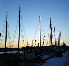 Boats in the winter, Stockholm