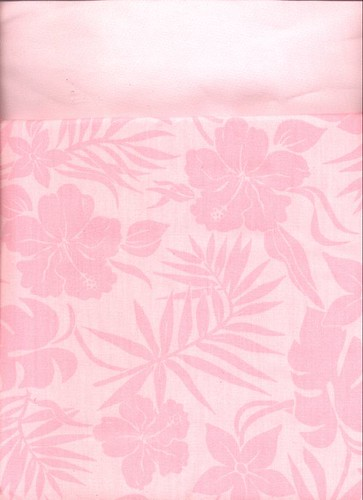 Roxy hibiscus fabric, and Kona cotton